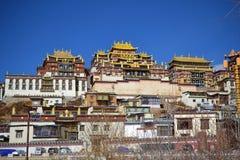 Songzanlin西藏佛教徒修道院,Shangri La,Xianggelila,云南,中国 库存照片