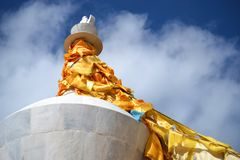 Songzanlin西藏佛教徒修道院,Shangri La,Xianggelila,云南,中国 免版税库存图片