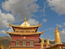 Songzanlin西藏修道院, shangrila,瓷 库存照片