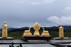 Songzanlin Buddha Temple golden Decoration Stock Photos