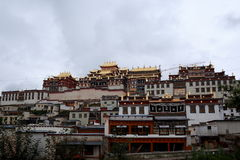 Songzanlin Buddha Temple. Tibet Temple in Shangri-La Royalty Free Stock Photos