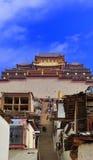 Songzanlin kloster på Shangr-la Arkivbild