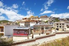 Songzanlin-Kloster, Yunnan, China stockfotos