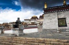 Songzanlin kloster Zhongdian, Kina Royaltyfri Foto