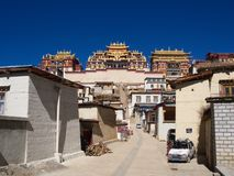Songzanlin Lama Tibetan Temple in Zhongdian or Shangli La City. Travel in Zhongdian City , Yunnan Province, China in 2012, November 15th Stock Photography