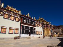 Songzanlin Lama Tibetan Temple in Zhongdian or Shangli La City. Travel in Zhongdian City , Yunnan Province, China in 2012, November 15th Stock Images