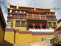 Songzanlin Lamasery. It is a very large temple in yunnan ,china, it belongs to the ancient Tibet Stock Photography