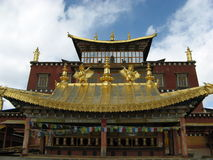 Songzanlin Lamasery. It is a very large temple in yunnan , china, it belongs to the ancient Tibet Royalty Free Stock Photo