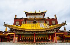 Songzanlin Lamasery of Yunnan. Songzanlin Lamasery. It was described as small Potala Palace is the maximal Tibetan buddhism lamasery of Yunnan. It was located in Royalty Free Stock Image