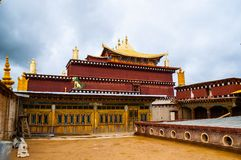 Songzanlin Lamasery of Yunnan. Songzanlin Lamasery. It was described as small Potala Palace is the maximal Tibetan buddhism lamasery of Yunnan. It was located in Royalty Free Stock Images