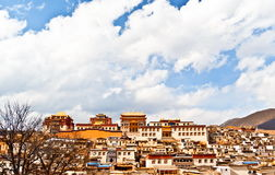 Songzanlin Lamasery of Yunnan. Songzanlin Lamasery. It was described as small Potala Palace is the maximal Tibetan buddhism lamasery of Yunnan. It was located in Stock Image