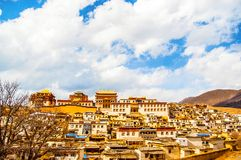 Songzanlin Lamasery of Yunnan. Songzanlin Lamasery. It was described as small Potala Palace is the maximal Tibetan buddhism lamasery of Yunnan. It was located in Stock Images