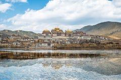 Songzanlin - monasterio tibetano en Shangrila, Yunnan, China Imagen de archivo