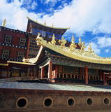 Songzanlin Monastery. Being the largest Tibetan Buddhist monastery in Yunnan, Songzanlin Monastery, built began in 1679 and was completed two years later. The Royalty Free Stock Photography