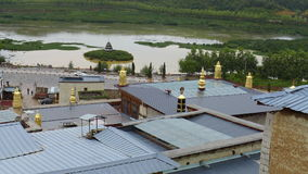 The Songzanlin monastery. Songzanlin located in Yunnan of Shangri-La city is 5 kilometers to the north, is a solemn, majestic huge Tibetan buildings, not only is stock image