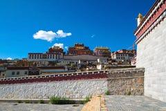 Songzanlin Monastery at Shangr-la, Yunnan China. Scenic view of Songzanlin Monastery, the largest Tibetan monastery at Shangr-la, Yunnan China stock image