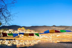 Songzanlin Monastery. In Shangri-la, China Royalty Free Stock Photo
