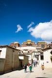 Songzanlin Monastery. In Shangri-la, Yunnan Province, China stock photos