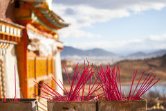 Songzanlin Monastery in Shangrila, China. Royalty Free Stock Image