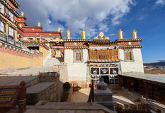 Songzanlin Monastery in Shangrila, China. Royalty Free Stock Photo