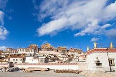 Songzanlin Monastery in Shangrila, China. Songzanlin Monastery in Shangrila, Yunnan, China Stock Photo