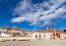 Songzanlin Monastery in Shangrila, China. Royalty Free Stock Photography