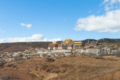 Songzanlin Monastery in Shangrila, China. Stock Photos