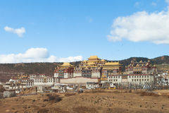Songzanlin Monastery in Shangrila, China. Stock Photography