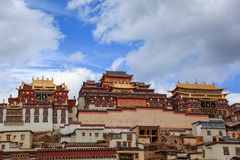 Songzanlin Monastery in Zhongdian, China. Songzanlin Monastery in Zhongdian (Shangri-La), Yunnan, China stock photo