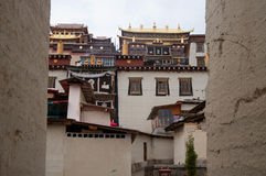 Songzanlin temple. The lamasery, which named Songzanlin, is located at northwest of Yunnan province, adjacent to Tibet Stock Photo