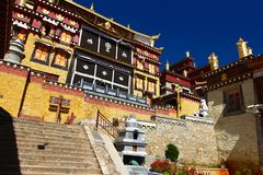 Songzanlin Temple also known as the Ganden Sumtseling Monastery, is a Tibetan Buddhist monastery in Zhongdian city( Shangri-La), Y Stock Photography