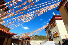 Songzanlin Temple also known as the Ganden Sumtseling Monastery, is a Tibetan Buddhist monastery in Zhongdian city( Shangri-La), Y Royalty Free Stock Photos