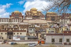 Songzanlin Temple also known as the Ganden Sumtseling Monastery. Is a Tibetan Buddhist monastery in Zhongdian city( Shangri-La), Yunnan province China and is stock photography