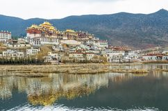 Songzanlin Temple is the largest Tibetan Buddhism monastery in Yunnan Province. Royalty Free Stock Photo