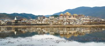 Songzanlin Temple is the largest Tibetan Buddhism monastery in Yunnan Province. Stock Photography
