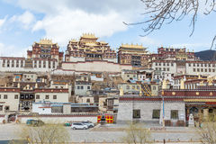 Songzanlin Temple in Zhongdian city.jpg. Songzanlin Temple also known as the Ganden Sumtseling Monastery, is a Tibetan Buddhist monastery in Zhongdian city( Stock Photo