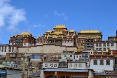 Songzanlin Tibetan Buddhist monastery, Shangri La, Xianggelila, Yunnan Province, China. Songzanlin Tibetan Buddhist monastery, Shangri-la, Xianggelila, Yunnan royalty free stock photo