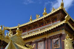 Songzanlin Tibetan Buddhist monastery, Shangri La, Xianggelila, Yunnan Province, China. Songzanlin Tibetan Buddhist monastery, Shangri-la, Xianggelila, Yunnan royalty free stock image