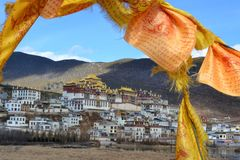 Songzanlin Tibetan Buddhist monastery, Shangri La, Xianggelila, Yunnan Province, China. Songzanlin Tibetan Buddhist monastery, Shangri-la, Xianggelila, Yunnan stock image