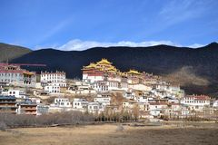 Songzanlin Tibetan Buddhist monastery, Shangri La, Xianggelila, Yunnan Province, China. Songzanlin Tibetan Buddhist monastery, Shangri-la, Xianggelila, Yunnan stock images