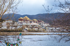 Songzanlin Tibetan Buddhist monastery in Zhongdian. Yunnan China. A place always knows in the name of fictional places,Shangri la Royalty Free Stock Photo