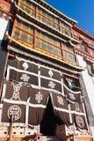 Songzanlin tibetan kloster i den Shangrila staden, Yunnan landskap Arkivbild