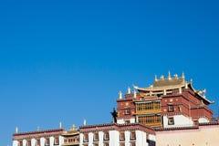 Songzanlin tibetan kloster i den Shangrila staden, Yunnan landskap Royaltyfri Bild