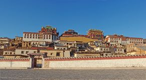 Songzanlin, the Tibetan temple. The lamasery, which named Songzanlin, is located at northwest of Yunnan province, adjacent to Tibet Royalty Free Stock Images