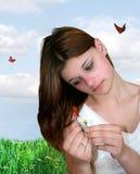 Sonhador bonito Fotografia de Stock Royalty Free
