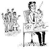 Sonhador do escritório (vetor) Fotografia de Stock Royalty Free