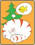 Sonhador do gato ilustração do vetor