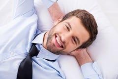 Sonhador feliz do dia Imagens de Stock