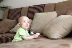 Sonhador pequeno do bebê Foto de Stock