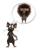 Sonhando do poder, rato dos desenhos animados 3D Foto de Stock